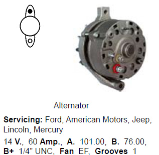 Lichtmaschine Ford Amercan Motors Jeep Lincoln Mercury