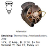 Lichtmaschine Thermo King, Amercian Motors, Jeep
